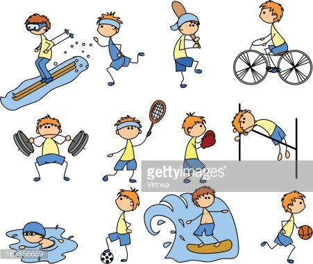 Health & Fitness Clipart Image.