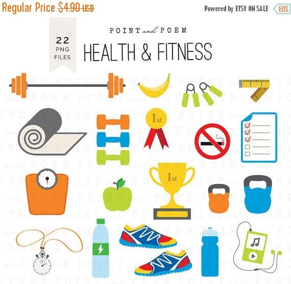 Fitness Clip Art: \'\'Sports clipart\'\' Health gym, fitness.