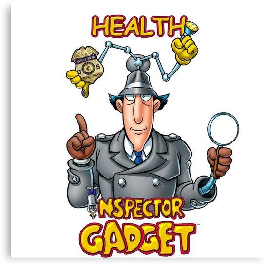 \'Health Inspector Gadget\' Canvas Print by SpaghettiFarmer.