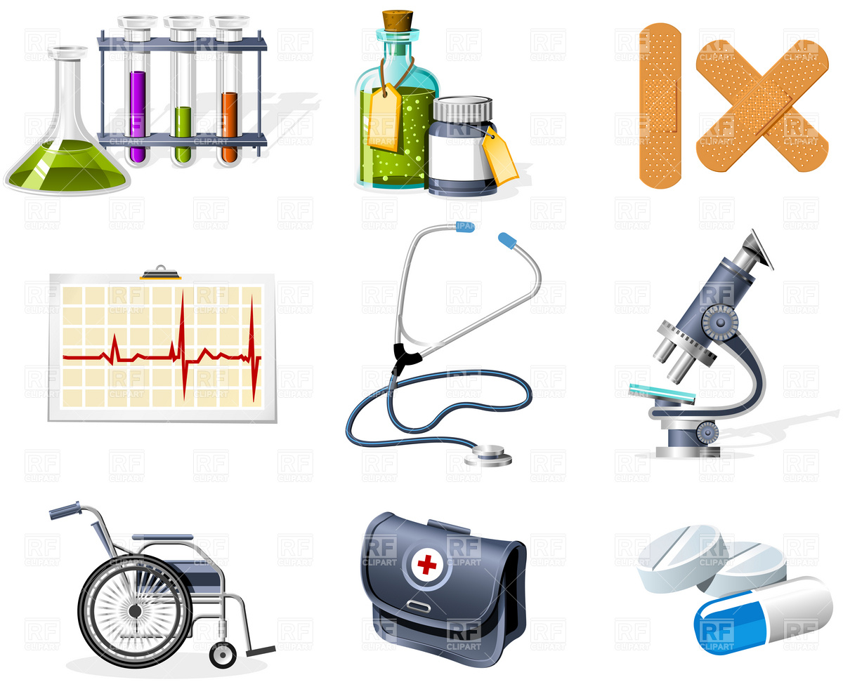 Medicine and healthcare icons Vector Image #4801.