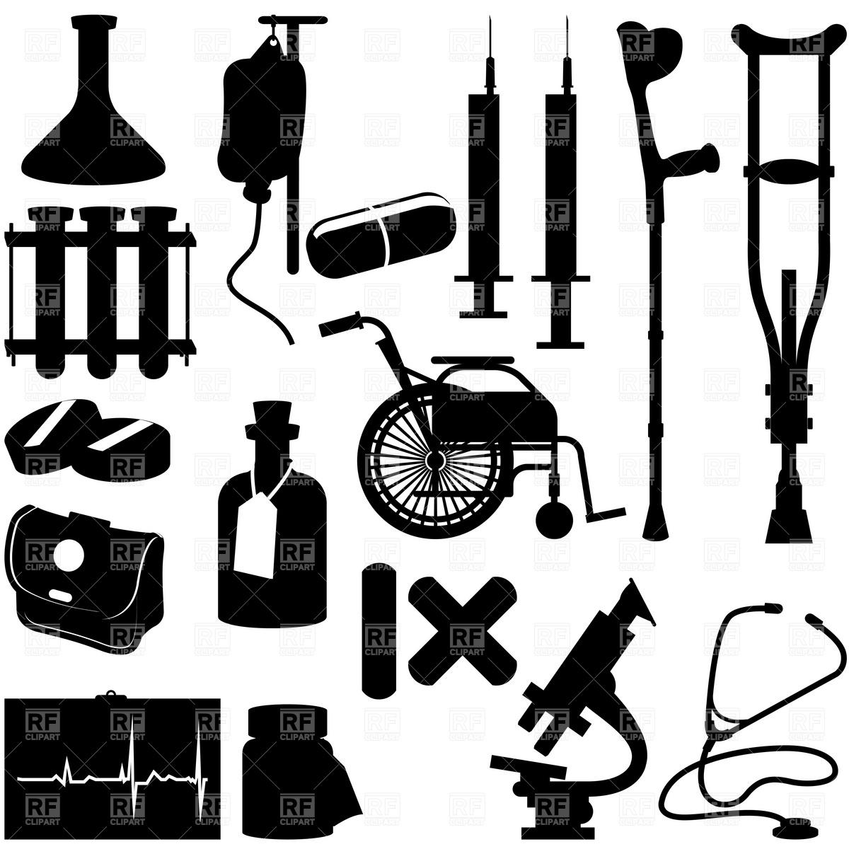 Medical Equipment Clipart.