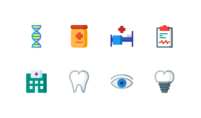 500+ Medical and Healthcare icons in AI, EPS, SVG, PNG Format.