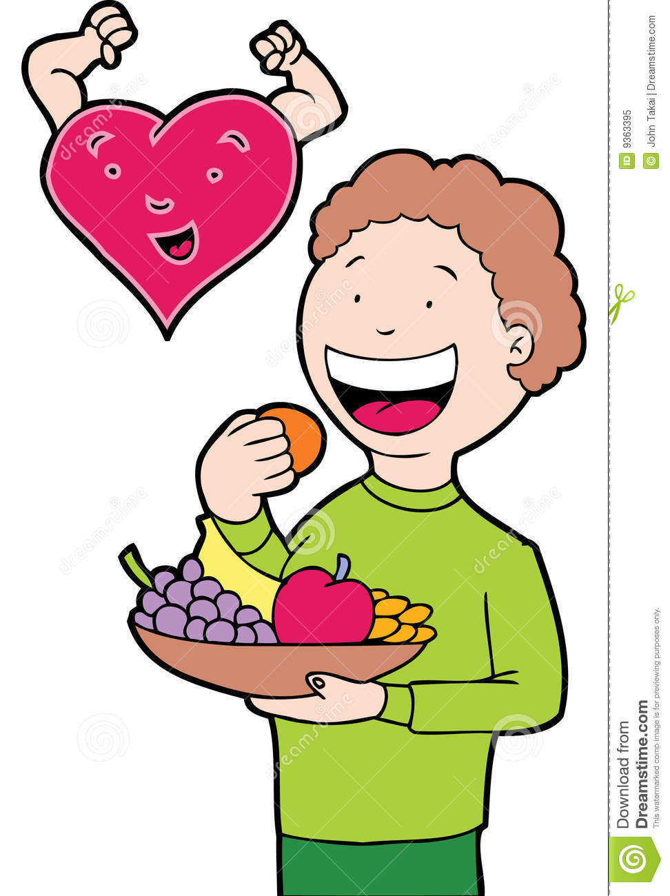 Clip art healthy person.