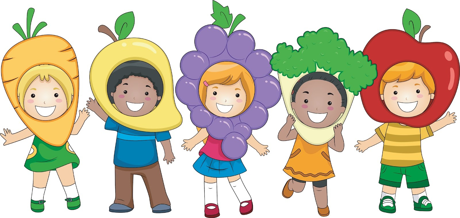 Healthy kids clip art.