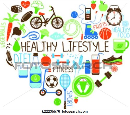 Clipart healthy lifestyle.