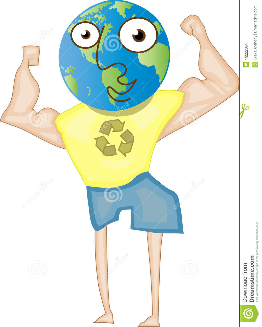 Recycle For A Better Healthier World Stock Images.
