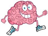 Clip Art of Running Brain k7115158.