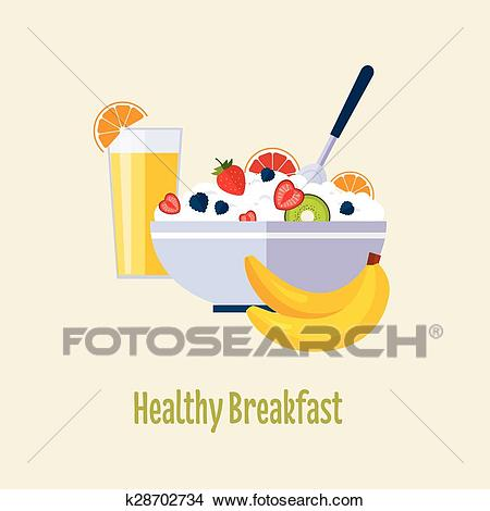 Healthy Breakfast Clipart.