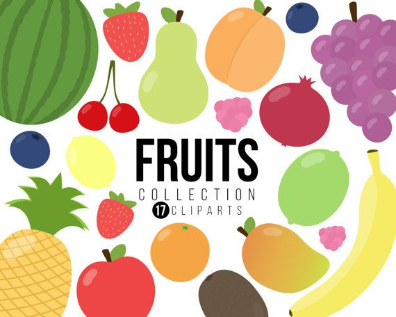 Fruit Clipart Collection, Fruits Clipart, Healthy Food Clipart.