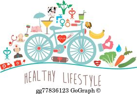 Healthy Lifestyle Clip Art.