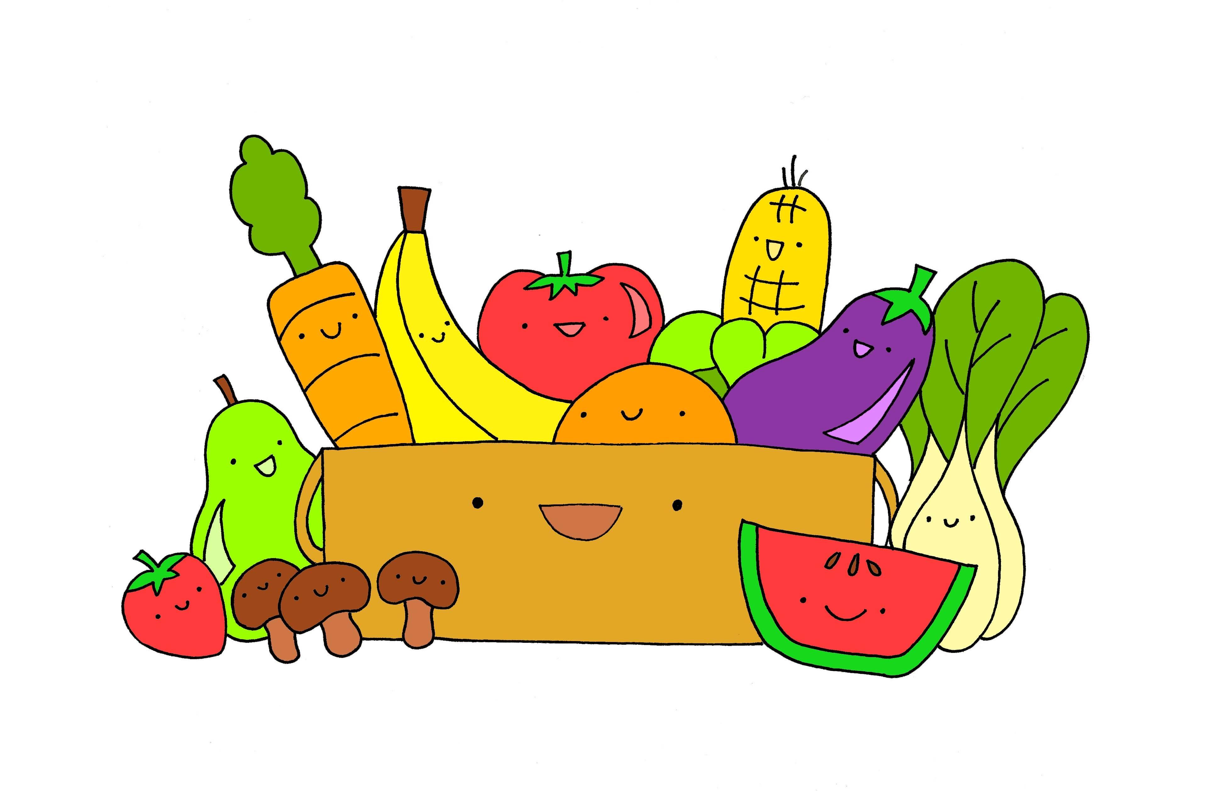 Healthy food cliparts.
