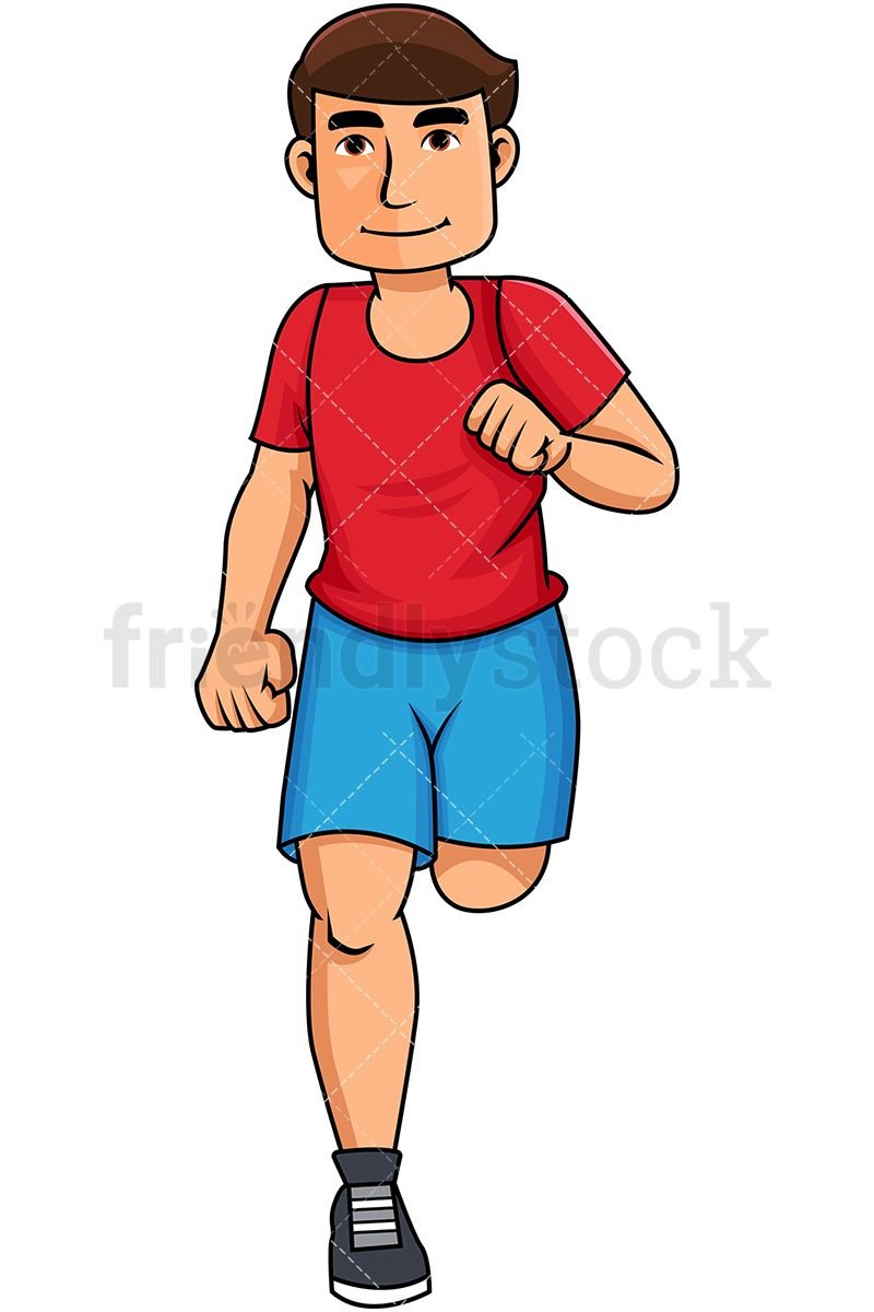 Young Man Jogging For Exercise.