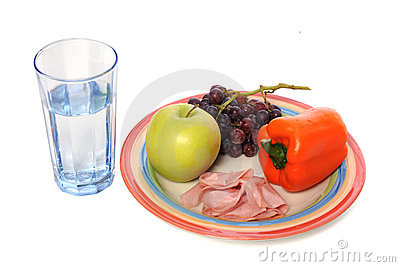 Healthy Food And Drink Royalty Free Stock Images.