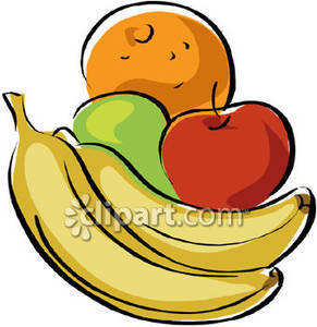 Healthy food and drink clipart.