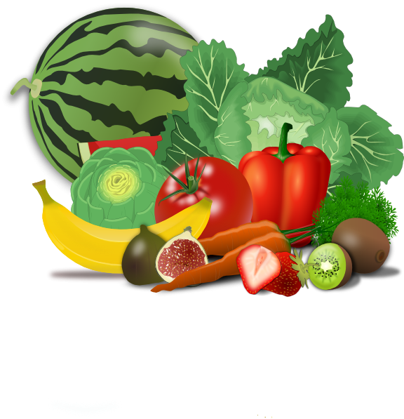 Small healthy food clipart.