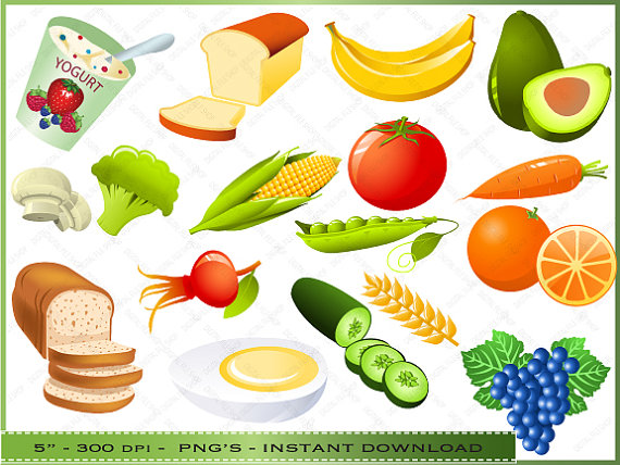 Healthy food clipart images.