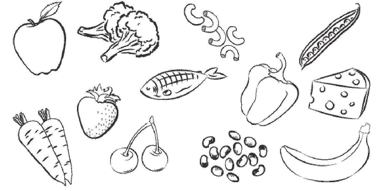 Child eating healthy food clipart black and white 3 » Clipart Portal.