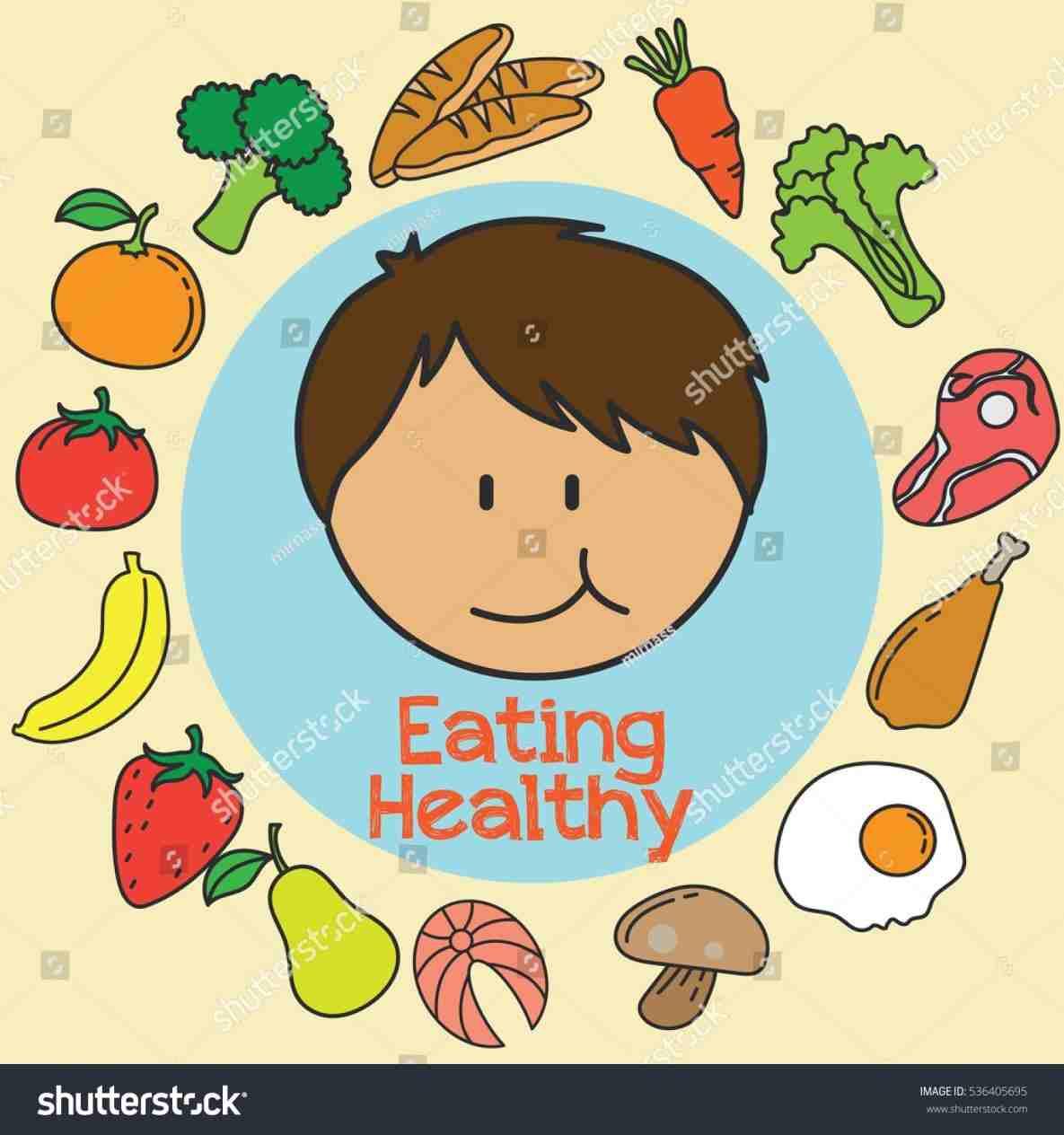 Children rhyoutubecom nutrition Kids Eating Healthy Foods Clipart.