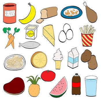 healthy food items clipart - Clipground