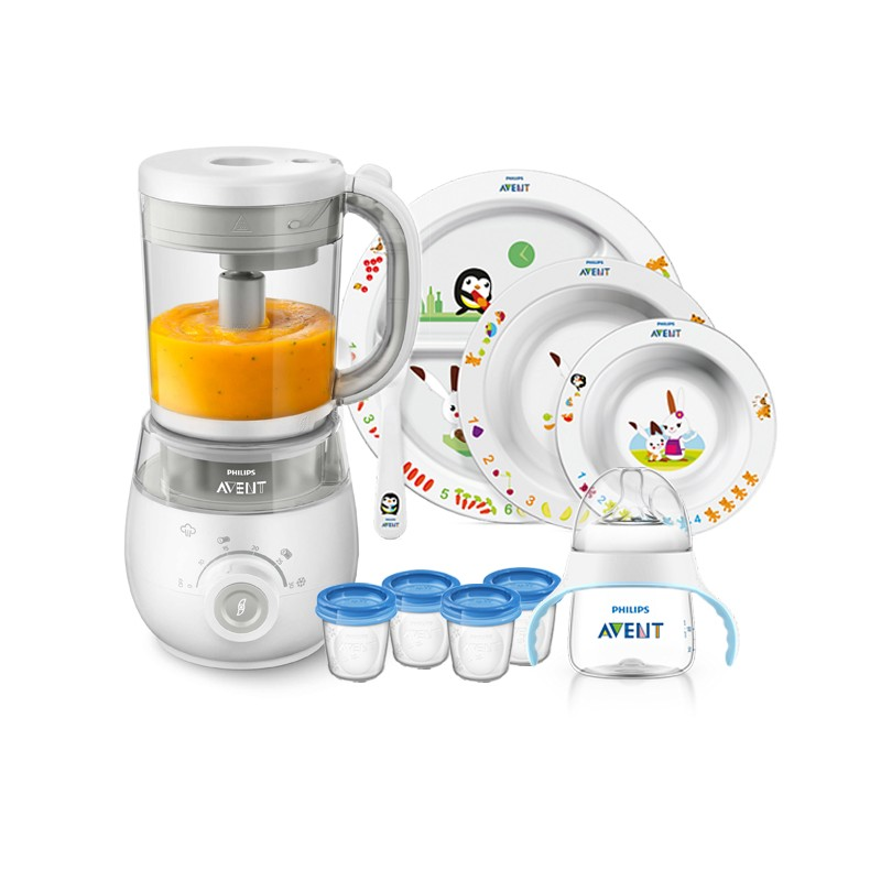 Philips Avent 4 in 1 Healthy Baby Food Maker Bundle.