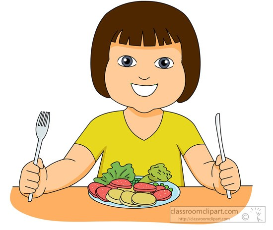 Girl eating healthy foods clipart 3 » Clipart Portal.