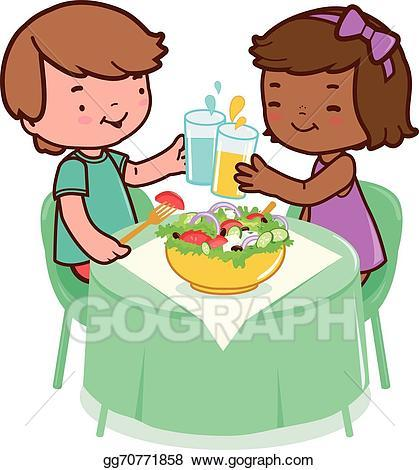 Kids eating healthy foods clipart 3 » Clipart Portal.