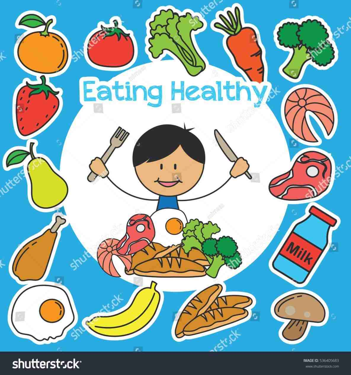 Kids Eating Healthy Foods Clipart of healthy eating » Clipart Station.