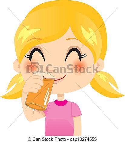 Clipart Vector of Healthy Orange Juice.