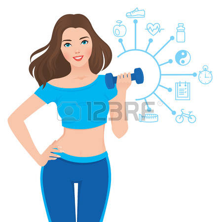 118,197 Healthy Woman Stock Vector Illustration And Royalty Free.