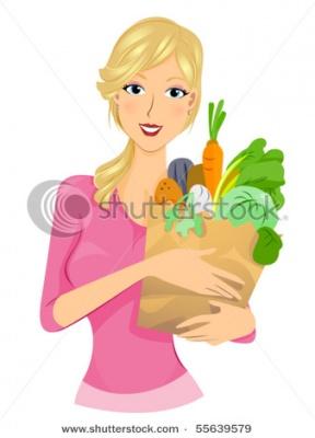 Healthy Girl Clipart.