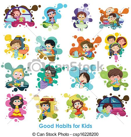 Healthy habits for kids clipart » Clipart Station.
