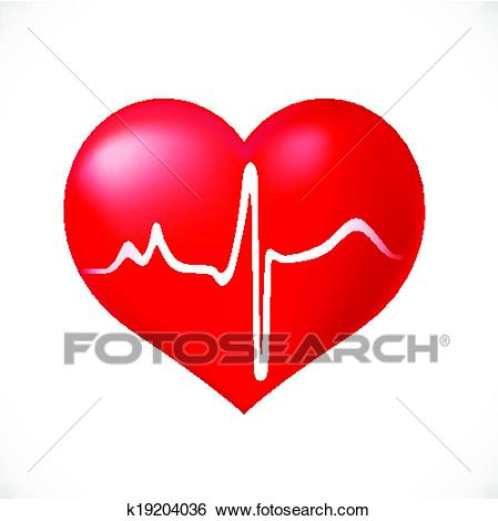 Healthy Heart icon on white background Clip Art.