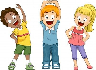 Healthy Kids Clipart.