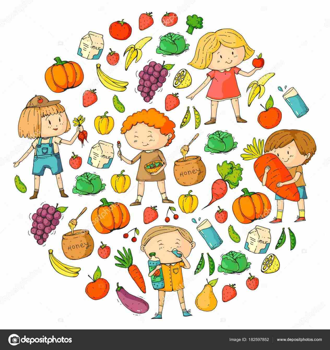 Foods For Kids Clipart healthy kids campaign poster.