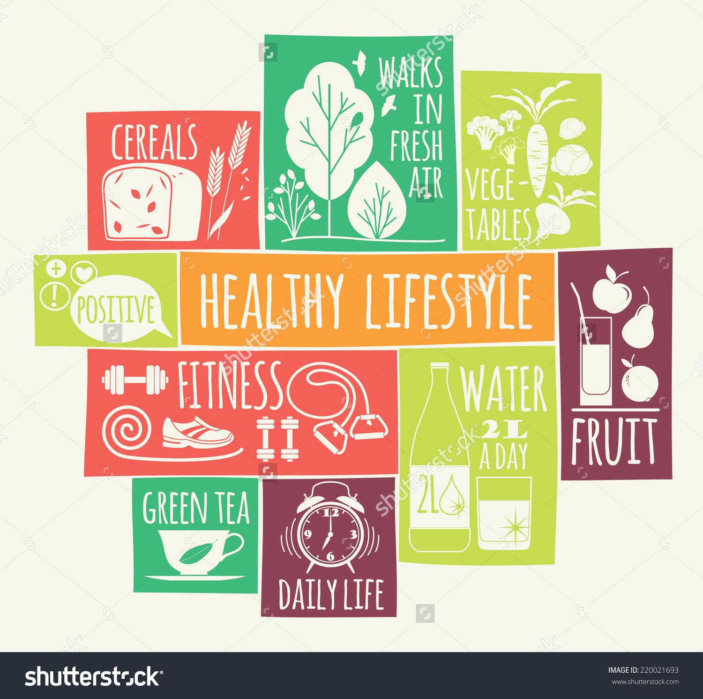 Healthy Lifestyle Clip Art.