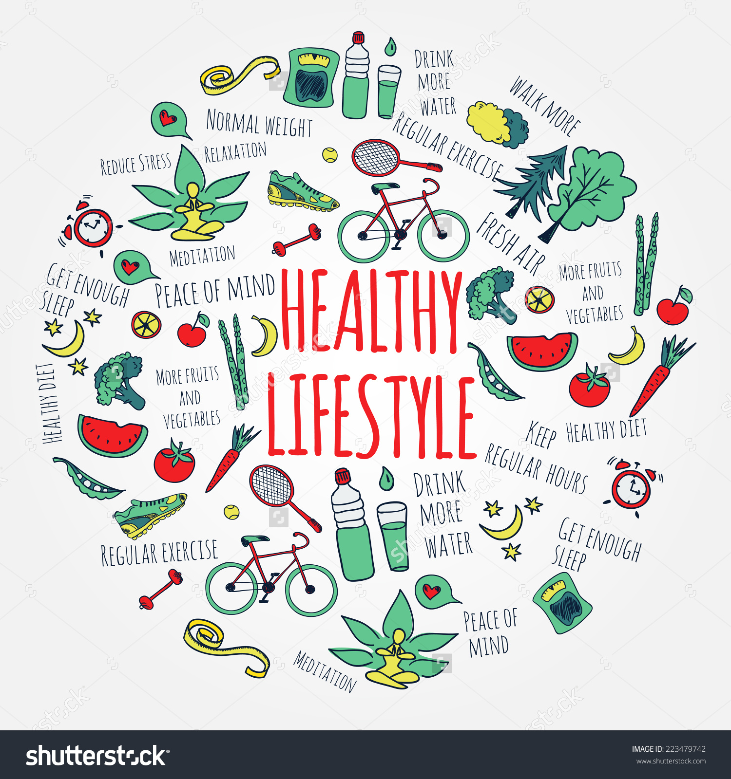 Healthy lifestyle clipart free.