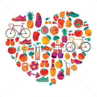 Healthy Lifestyle Clipart.