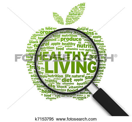 Stock Illustration of Healthy Living Apple Illustration k6975836.