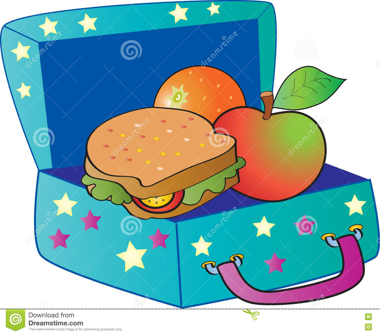 Healthy Lunch Box Clipart.