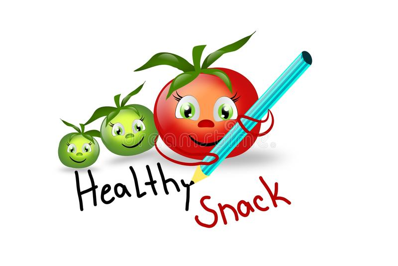 Healthy Snack Stock Illustrations.