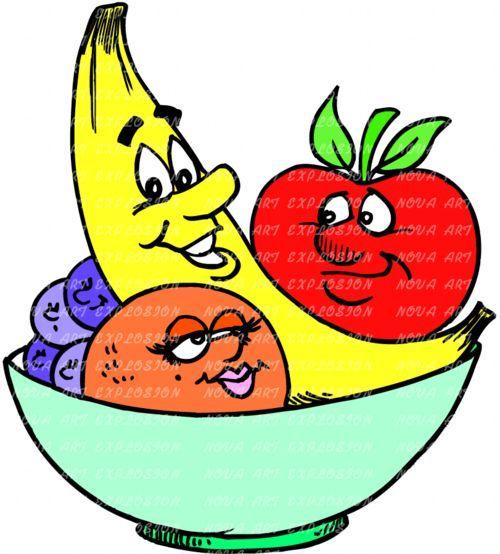 Cartoon Fruit Bowl Live healthy myherbalmart.com.