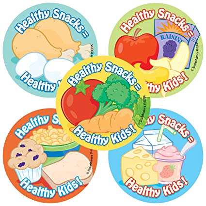 Amazon.com: Healthy Snacks Stickers.
