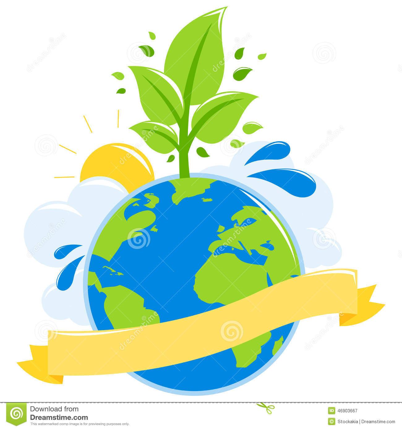 Green Earth Ecology Concept Stock Vector.