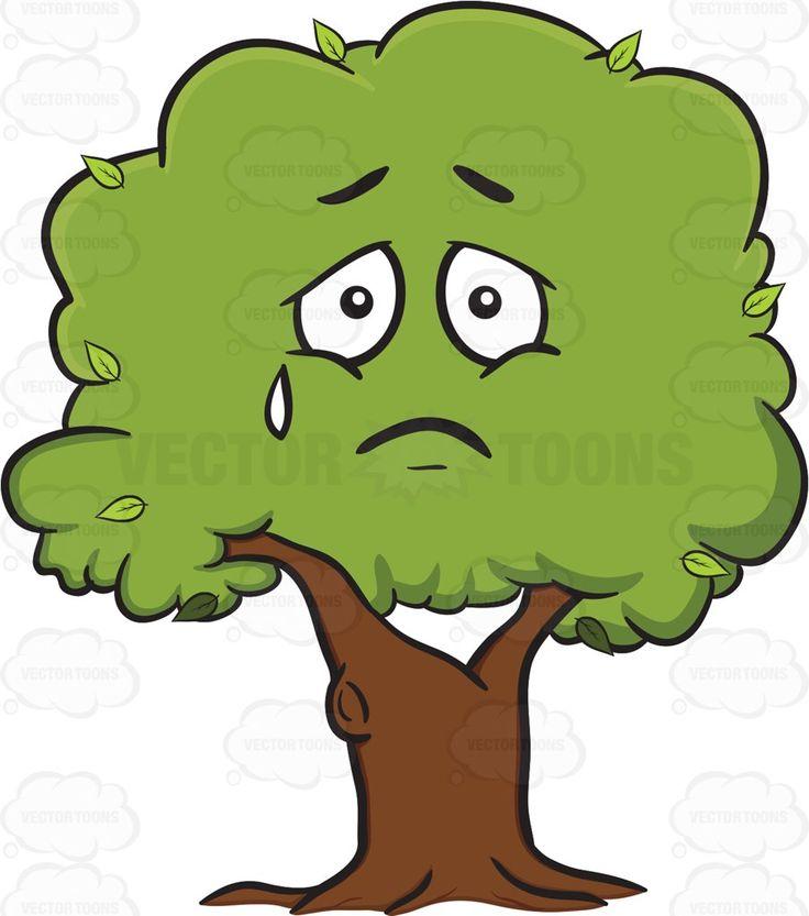 Sad Looking Healthy Leafy Tree Emoji.