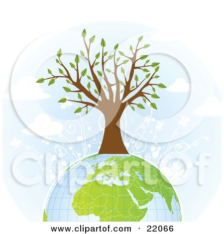 Clipart Illustration Picture of a Strong And Healthy Tree With.