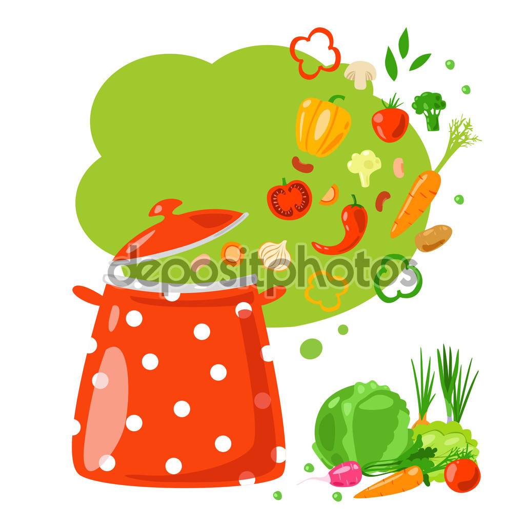 Healthy vegetarian soup — Stock Vector © zabavinaula #102688772.