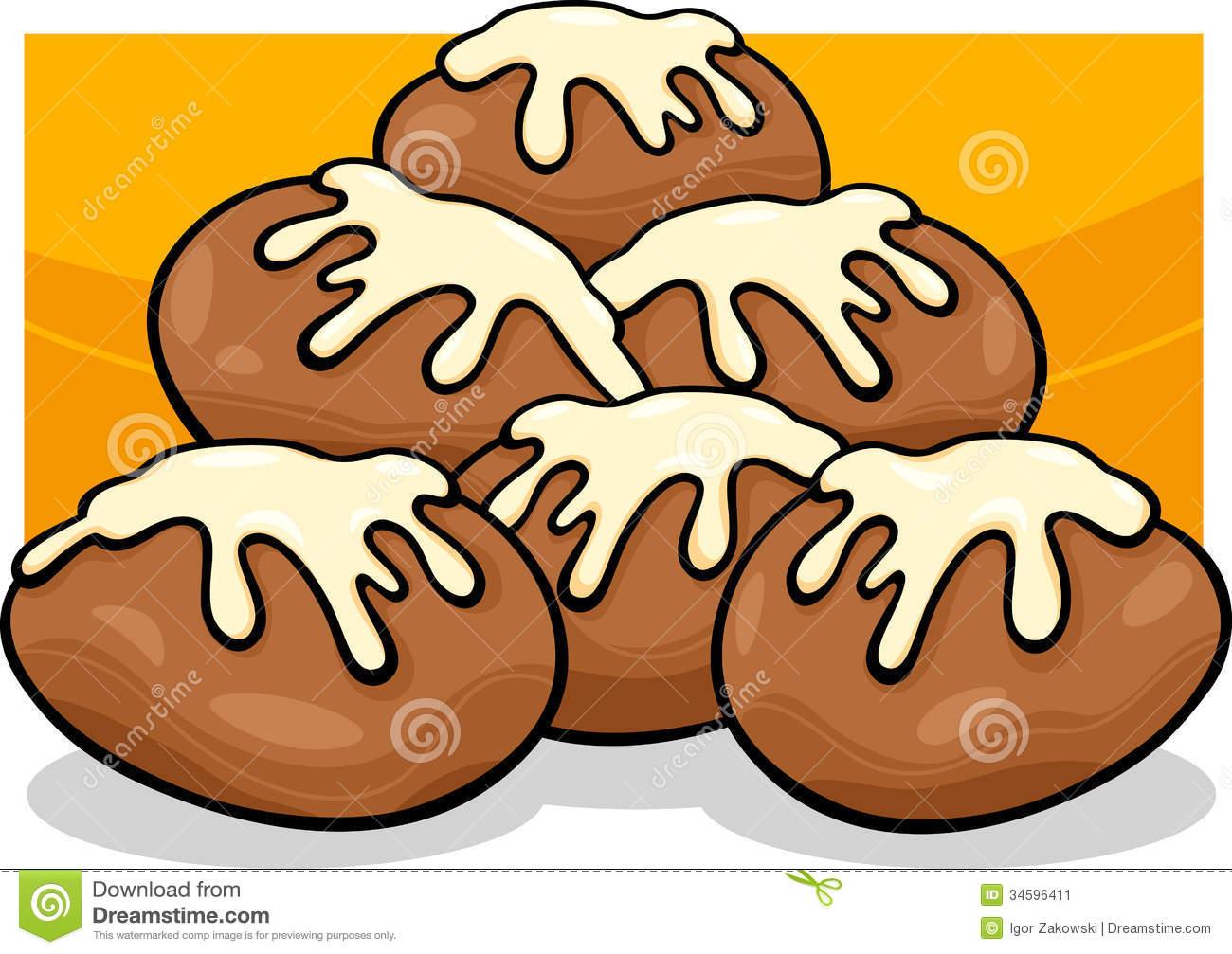 Donuts Clip Art Cartoon Illustration Stock Image.