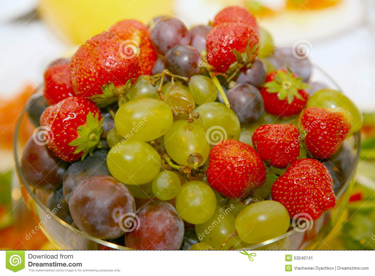 Photo Of Beautiful And Delicious Fruits And Berries, Grapes.
