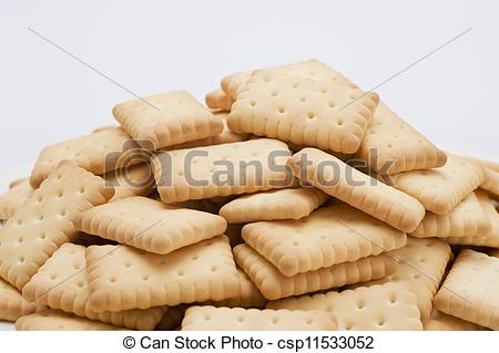 Stock Images of Crackers heaped.