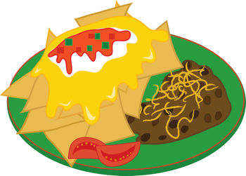 Clipart Illustration of a Burrito Plate ( Mexican Food.